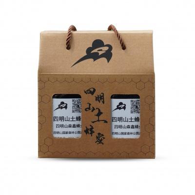 浙江 四明山土蜂蜜 三个月蜜酿期500g/瓶*2纸盒装