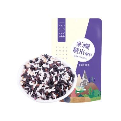 上海 姚朵朵 紫糯薏米粥料 200g/袋
